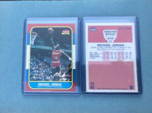 1986-87 Fleer Basketball Michael Jordan Rookie Reprint Card Chicago Bulls