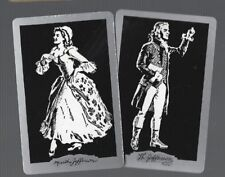 Playing Swap Cards 2 VINT  SILHOUETTES  MARTHA & THOMAS JEFFERSON   PAIR  809