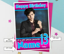 Cole Sprouse..Star of Riverdale, Jughead Jones Personalised Birthday Card....