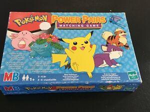 Vintage 2000 Pokemon MB Card Game Power Pairs Matching Game