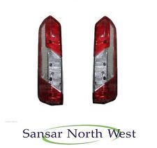 Ford Transit MK8 - Pair Of Rear Lamps Tail Lights - LEFT & RIGHT 2014 - 2018 Van