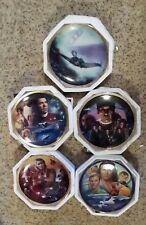 Star Trek Hamilton Commemorative 5 Plate Set with Coa's & Boxes Mint