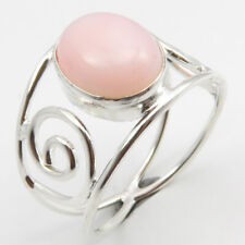 Sterling Silver Gemstone Wholesale Jewelry Genuine Pink Opal Ring Size 6.75