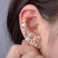 Vintage Retro Women Clip Ear Cuff Stud Punk Wrap Cartilage Earring Jewelry Gift