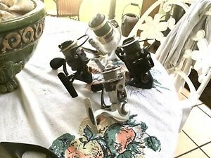 Lot of (4) Fishing reels STRADIC,CLASH, CONFLICT, PFLUEGER for parts or repair