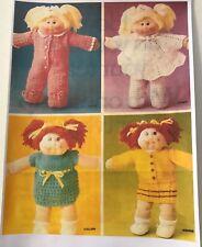 Cabbage Patch Kids Knitting Patterns Dolls Clothes Digital Pdf COPY 1970's