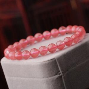 Watermelon Red Quartz Bracelet