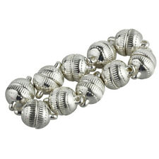 10pcs Silver Plated Strong Magnetic Clasps Round 10mm for Bracelets Jewelry R4L9