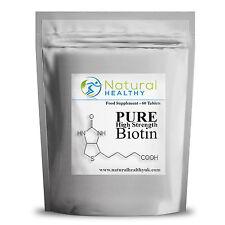 30 Biotina Pastillas para la pérdida de cabello, uñas quebradizas, erupción cutánea, pérdida de peso Buena Salud