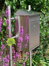 Edelstahl Standbriefkasten Briefkasten Postkasten Mailbox u. Briefkastenständer