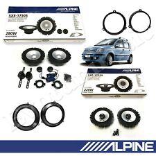 Kit 6 Casse Altoparlanti Alpine Anteriori e Posteriori per FIAT Panda 2003>2012