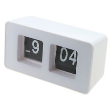 Flip Clock Classic Stylish Auto Modern White Desk Wall Digital Clock Home Decor