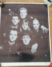 PAUL McCARTNEY + WINGS 1989/90 POSTER 31x25 inches