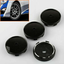 NEW 4X 60mm Black SUV Car Wheel Center Covers Cap Rim Hole No Logo Hubcap