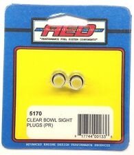 Aed 5170 Pair of Clear Fuel Bowl Sight Plugs-Holley Carburetor Se