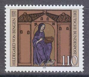 Germany 1979 MNH Mi 1018 Sc 1298 Hildegard von Bingen, Benedictine composer **