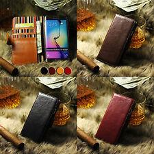 Galaxy S5 Handy Leder Echtleder Smartphone Case Hülle Cover Zubehör + Folien