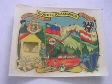 Unused Vintage Frontier Schaanwald Austria Furstentum Liechenstein Luggage Label