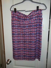 LuLaRoe - Cassie Skirt - Black w/ blue & red - Size XLarge - NEW with tags