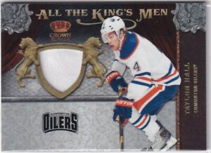 11-12 CROWN ROYALE ALL THE KINGS MEN JERSEY OILERS - TAYLOR HALL