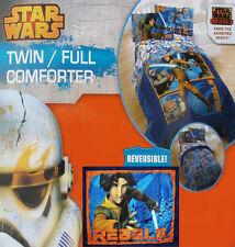 STAR WARS REBELS ANIMATED BLUE TWIN COMFORTER SHEETS SHAM 5PC BEDDING SET NEW