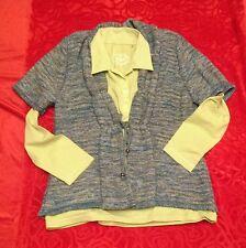 GINA LAURA, Strickjacke + Poloshirt - Kombination -, Gr. L, grün, 1 AAA Zustand
