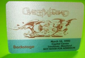 Grateful Dead Backstage Pass Freaky Cool Eyeballs With Swords 1990 Tour Fan Gift