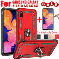 For Samsung Galaxy A10 A20 A30 A50 A10e Armor Case Cover+Glass Screen Protector