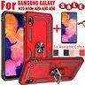 For Samsung Galaxy A10 A20 A30 A50 A10e Armor Case Cover+Glass Screen Protector