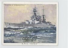 1939 Player's British Naval Craft Tobacco Base #5 HMS Hood Non-Sports Card 0a3