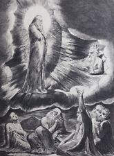 William BLAKE : Apparition du saint - GRAVURE N&B - Livre de Job - Bible #1902
