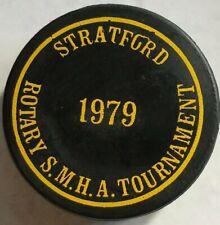 1979 Stratford Rotary Smha Tournament Hockey Puck Canada Viceroy Mfg. Mc D's Ad