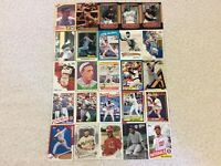HALL OF FAME Baseball Card Lot 1960-2020 CARL YASTRZEMSKI SANDY KOUFAX LOU BROCK