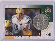 RARE 1997 PINNACLE MINT BRETT FAVRE SILVER COIN & CARD #1 ~ GREEN BAY PACKERS