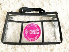 Clear PINK NFL Approved Stadium Purse Flight Approved Travel Bag Free Shipping