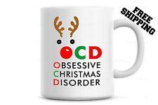 OCD Obsessive Christmas Disorder Mug Funny Christmas Coffee Mug gift