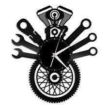 Motorcycle Service Vinyl Wall Clock Unique Gift for Friends Home Decoration
