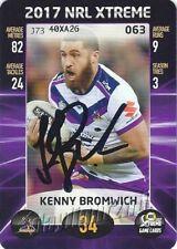 ✺Signed✺ 2017 MELBOURNE STORM NRL Premiers Card KENNY BROMWICH