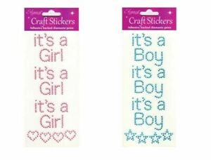 Self Adhesive 15mm Pink/Blue 'It's A Girl Or It's A Boy' Stick On Stickers