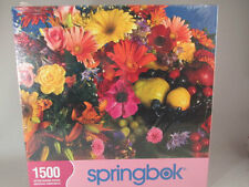 Springbok 1500 Piece Jigsaw Puzzle Flowers And Fruits New