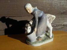 Royal Copenhagen Denmark Girl With Calf Figurine #779