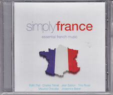 CD SIMPLY FRANCE 18T PIAF/ROSSI/TRENET/REINHARDT/BAKER/SABLON ETC... NEUF