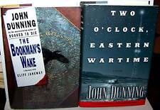 John Dunning - 2 FIRST EDITIONS-Bookman's Wake signed