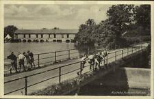 Audebo Dänemark Postkarte ~1920/30 Partie an der Pumpenstation Brücke Kinder