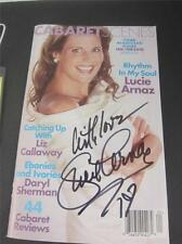 Lucie Arnaz Signed Cabarets Scenes Magazine 2010 COA Video Lucille Lucy Ball