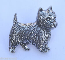 Westie West Highland Terrier Dog Hand Made in Uk Pewter Lapel Pin Badge