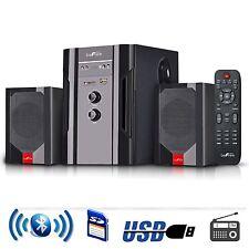 beFree Sound 2.1 Channel Surround Sound Bluetooth Speaker System USB/SD/FM