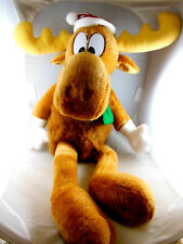 "Bullwinkle Moose Macy Christmas Holiday Plush 15"" sitting 26"" Tall Macy's 1996"