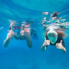 2-Pack Snorkeling Diving Mask with Action Camera Mount,Anti-Fog Anti-Leak (L/XL)