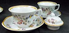 Wedgwood DEVON ROSE Sugar Bowl Lid + 2 Cup & Saucer Sets GREAT CONDITION